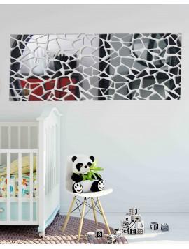 Moderné dekoračné zrkadlá. Zrkadlové a farebné samolepky na stenu,3D samolepky vyrobené z akrylu