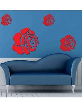 3D  samolepka na stenu ruža