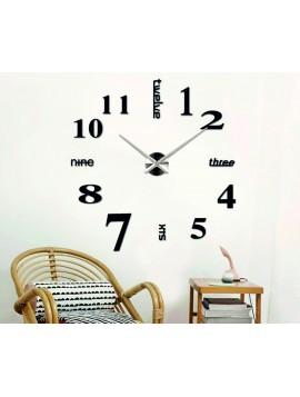 SENTOP Nástenné hodiny do obývačky  MARTIN 2D PLEXI čierne S015