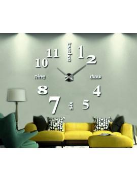 STYLESA nalepovacie nástenné hodiny veľká S015 GROF biele