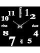 Moderné nástenné nalepovacie hodiny. 3D zrkadlové hodiny ako obraz