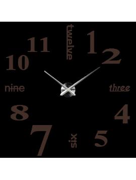 Moderné farebené nástenné hodiny  tmavá hnedá Veľká sedmička  XXLL