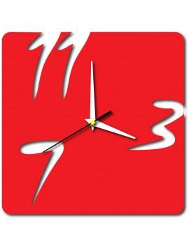 XMOMO Moderné nástenné hodiny X0048 HUMAIRA červené