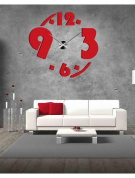 Nástenné nalepovacie hodiny z plastu PLLMGROF 2D
