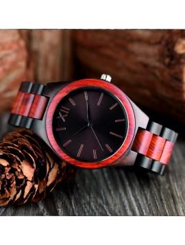 Drevené náramkové hodinky Rímska dvanástka Yisuya