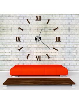 SENTOP hodiny na stenu DIY ŘÍMSKÉ 3D SZ037 i hnědé
