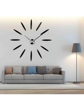 SENTOP Nástenné hodiny nalepovacie 3D SLNKO 12S050 i čierne
