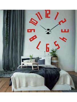 Luxusné nástenné hodiny Veľké čísla KUCHNA 3D