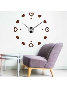 Nástenné nalepovacie hodiny Láska SRDCE