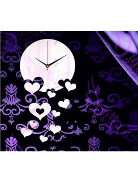 Śtýlové nalepovacie nástenné hodiny. Zrkadlové hodiny na stenu, ako dar.