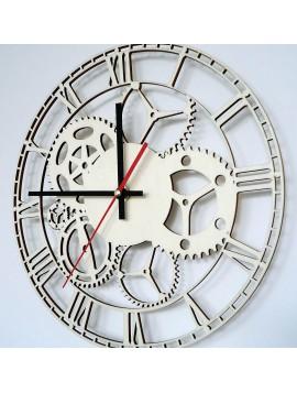 Nástenné hodiny vyrobené z dreva FLUMO