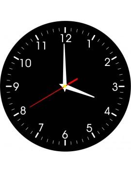 Nástenné hodiny pohody- material HDF, nálepka ROBEER