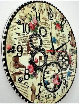Štýlové nástenné hodiny HDF HRBKLIN SX