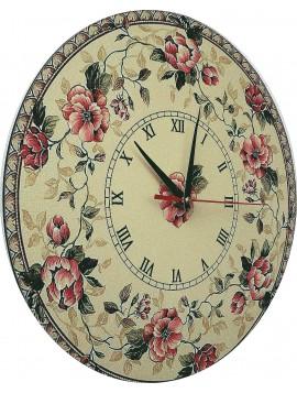 Nástenné hodiny  z dreva a samolepky  rozmer: 30x30 cm KLARA