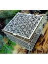 Vintage drevená krabička - Easy, rozmer: 12,6x12,6x8,2 cm, poskladaná
