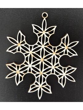Drevené vianočné ozdoby-Snehová vločka, rozmer: 61x61mm VLOCKA