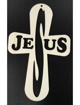 Drevený krížik  Jesus, rozmer: 250x160 mm