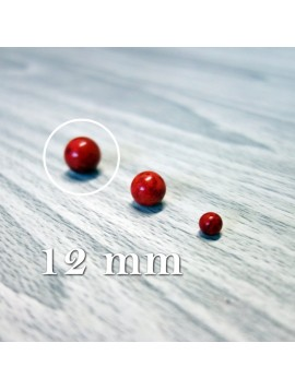 Červený koral - korálka minerál - FI 12 mm