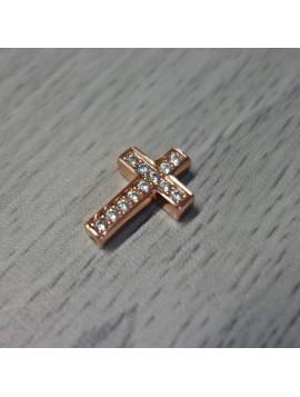 Kovový krížik so zirkónmi - medený