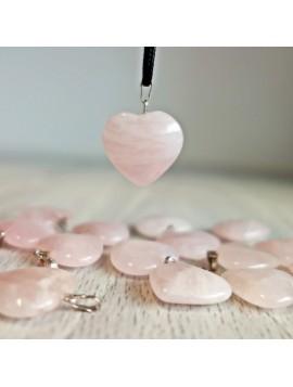 Prívesok z minerálu v tvare srdca - ruženín - 2 cm