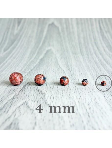Jaspis leopardí - korálka minerál - FI 4 mm