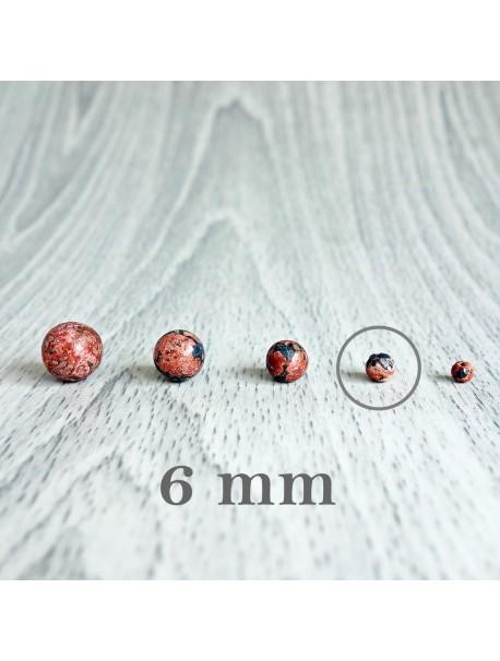 Jaspis leopardí - korálka minerál - FI 6 mm