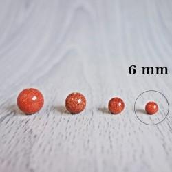 Aventurín zlatý (slnečný kameň) - korálka minerál - FI 6 mm