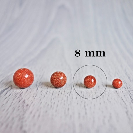 Aventurín zlatý (slnečný kameň) - korálka minerál - FI 8 mm