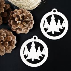 Drevená ozdoba Vianočný stromček, rozmer:79x90 mm