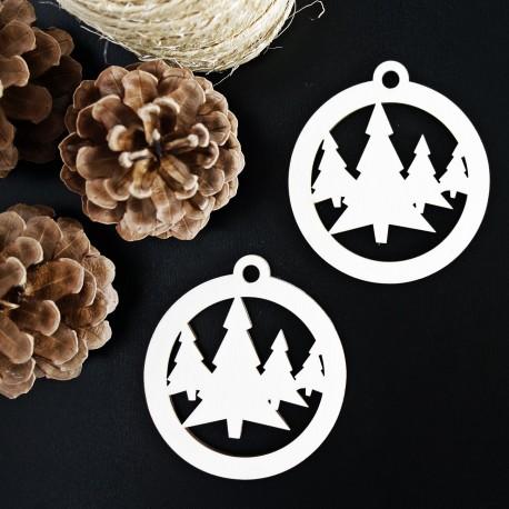 Drevená ozdoba-Vianočný stromček, rozmer:79x90 cm