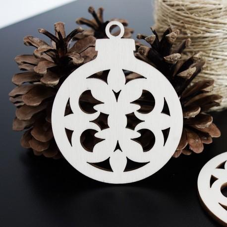 Vianočná ozdoba pre radosť vyrobená z dreva, rozmer: 79x90 mm