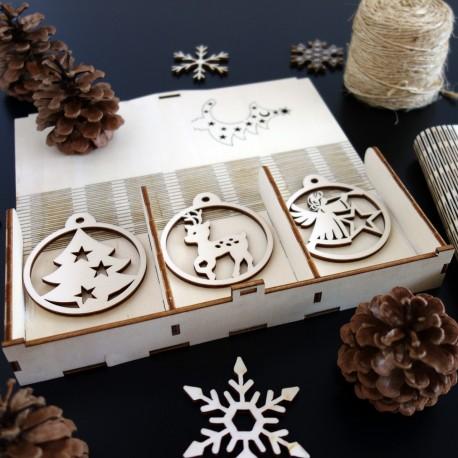 Sada Vianočných ozdôb, 1sada-18 kusov