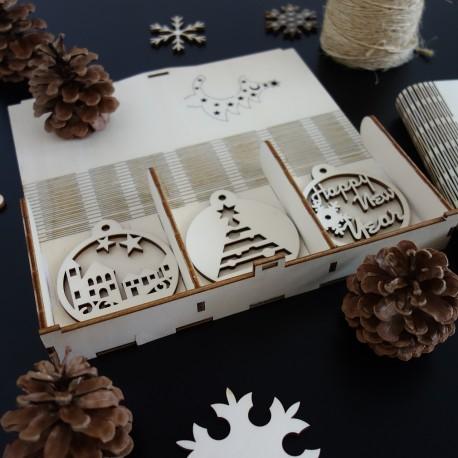 7429b339a Vianočné ozdoby z dreva a plastu, Vianočné dekorácie drevené ...
