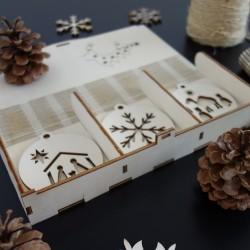 Sada  vianočných ozdôb, ktorá poteší, 1 sada-18 kusov MAFFRA