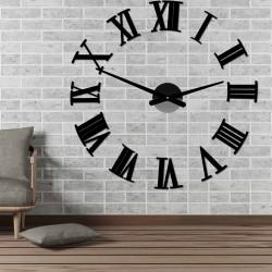 Nalepovacie nástenne hodiny rímske 2D plexi