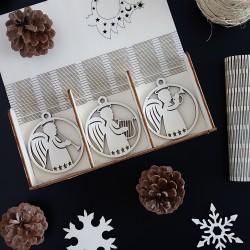 Sada vianočných ozdôb pre potešenie, 1 sada-18 kusov