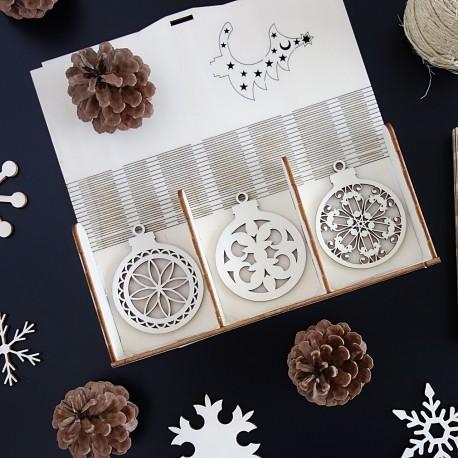 Ozdoby na vianočný stromček, 1 sada-18 kusov