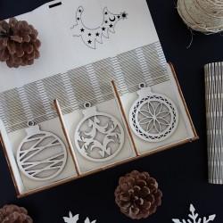 Kolekcia vianočných ozdôb, 1 sada-18 kusov LASKA