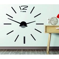 Nástenné hodiny veľké nalepovacie OMEGA. Plexisklo XMOMO