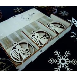 Vintage drevené vianočné ozdoby,sada obsahuje 18 kusov CHRISMAS