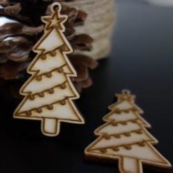 Drevené vianočné ozdoby, rozmer: 70x40 mm