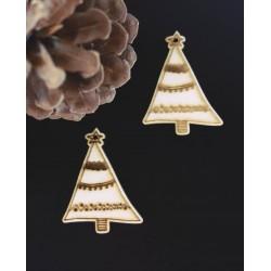 Vianočné ozdoby gravírované, rozmer: 52x40 mm