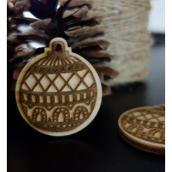 Vianočné dekorácie, rozmer: 48x42 mm