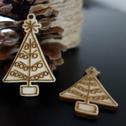 Vianočný stromček ozdoba, rozmer: 62x40 mm