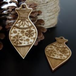 Dekorácie z dreva na Vianoce, rozmer: 80x40 mm