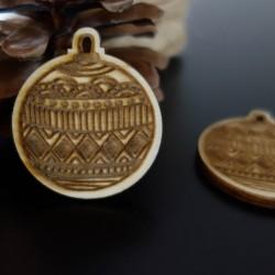 Ozdoby na vianočný stromček vyrobené z dreva, rozmer: 48x42 mm