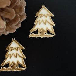 Vianočný stromček dekorácia, rozmer: 50x40 mm