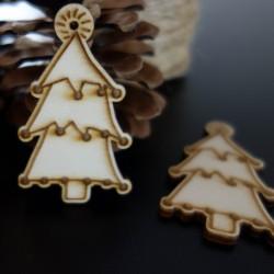 Vianočná drevená dekorácia, rozmer: 65x40 mm