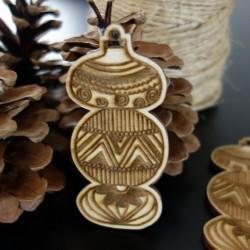 Drevené vianočné ozdoby, rozmer: 84x40 mm