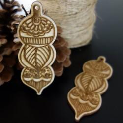 Vianočné ozdoby z dreva, gravírované, rozmer: 100x37 mm